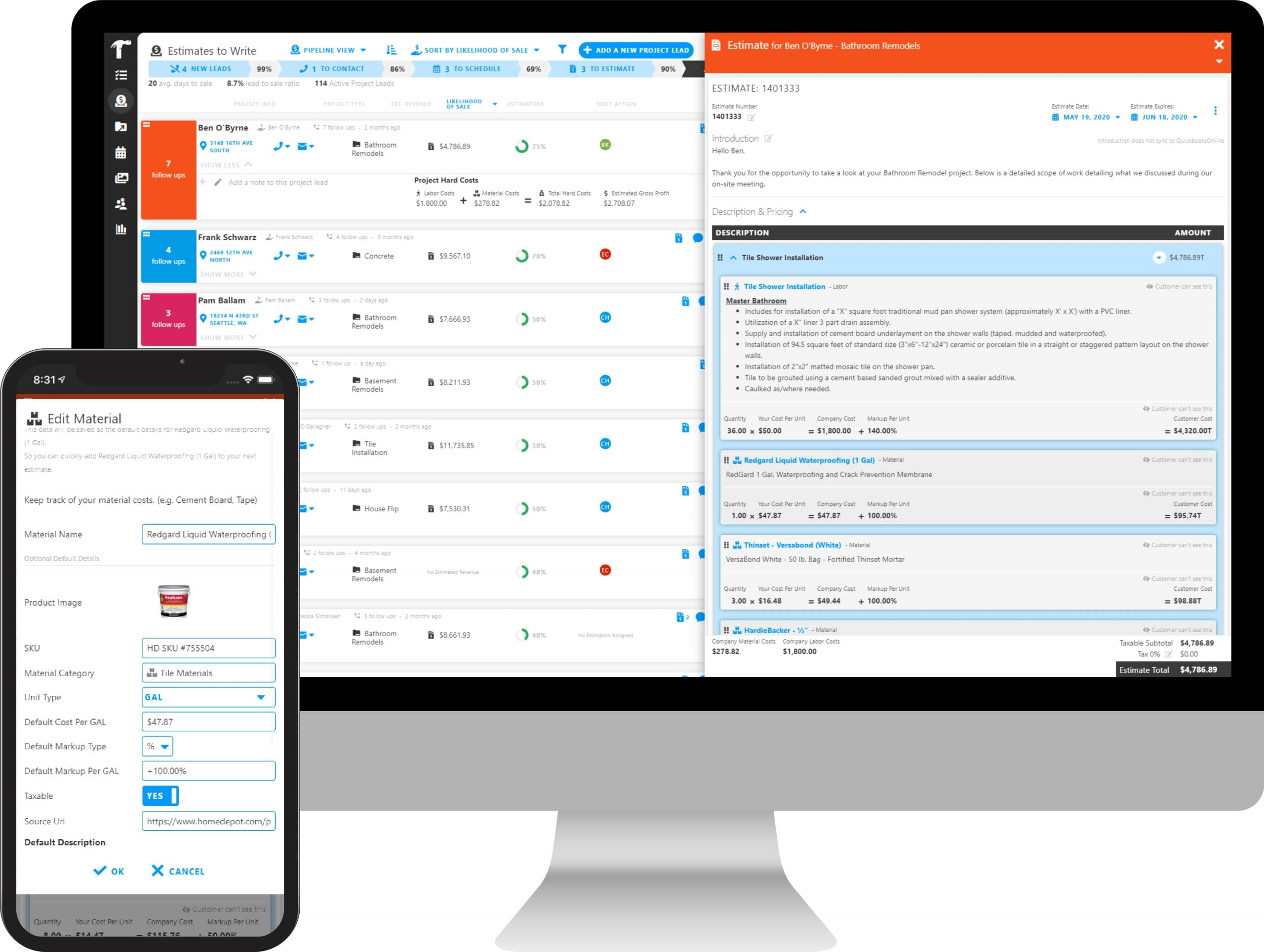Built in Budgeting with Projul