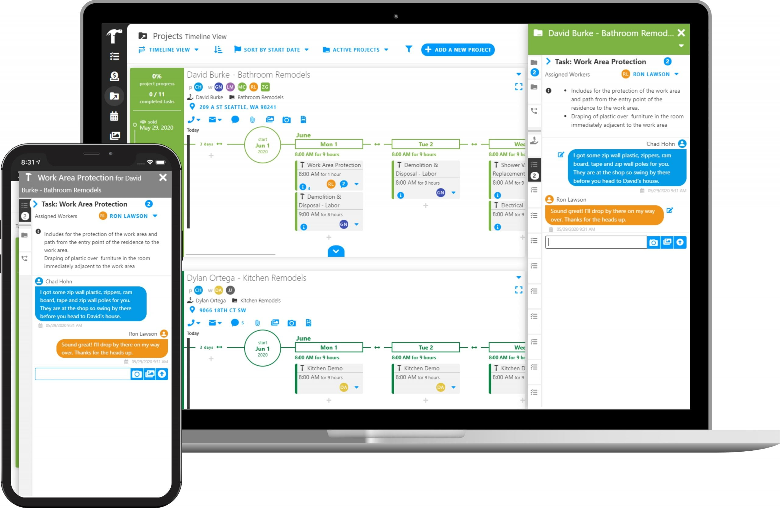 Real-Time Messaging with Projul