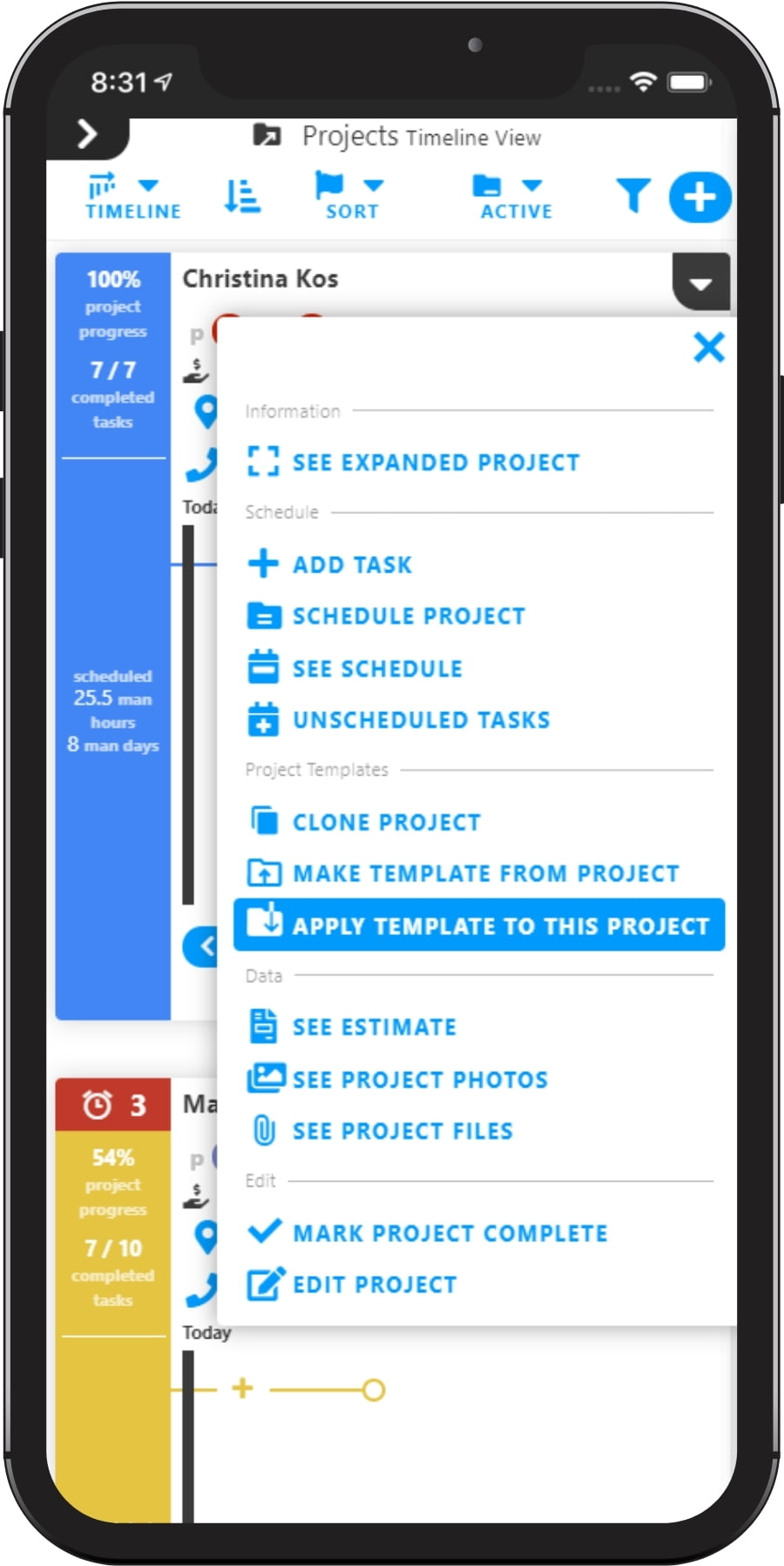 Clone Projects Estimates and Tasks with Projul