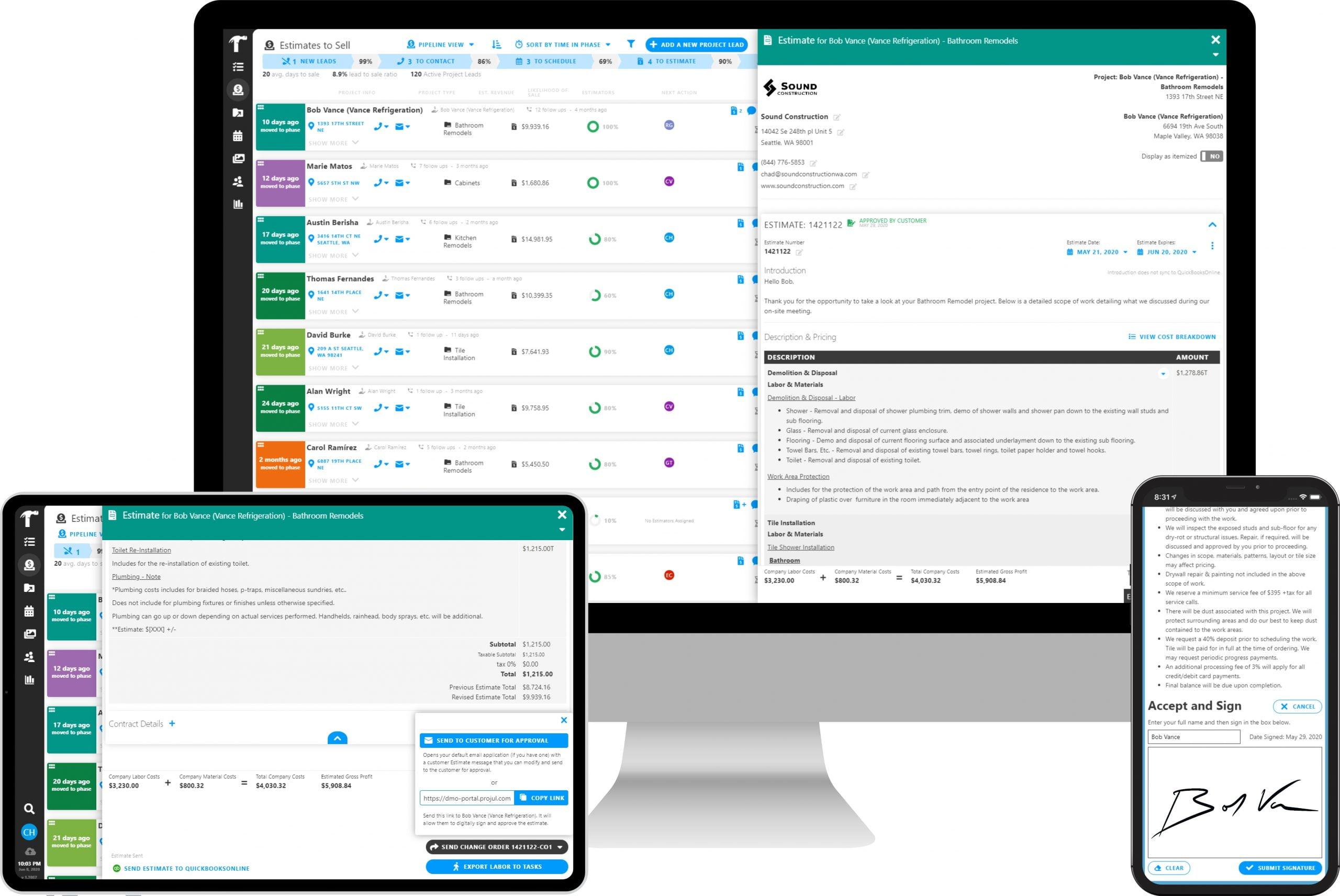 Client Digital eSignatures with Projul