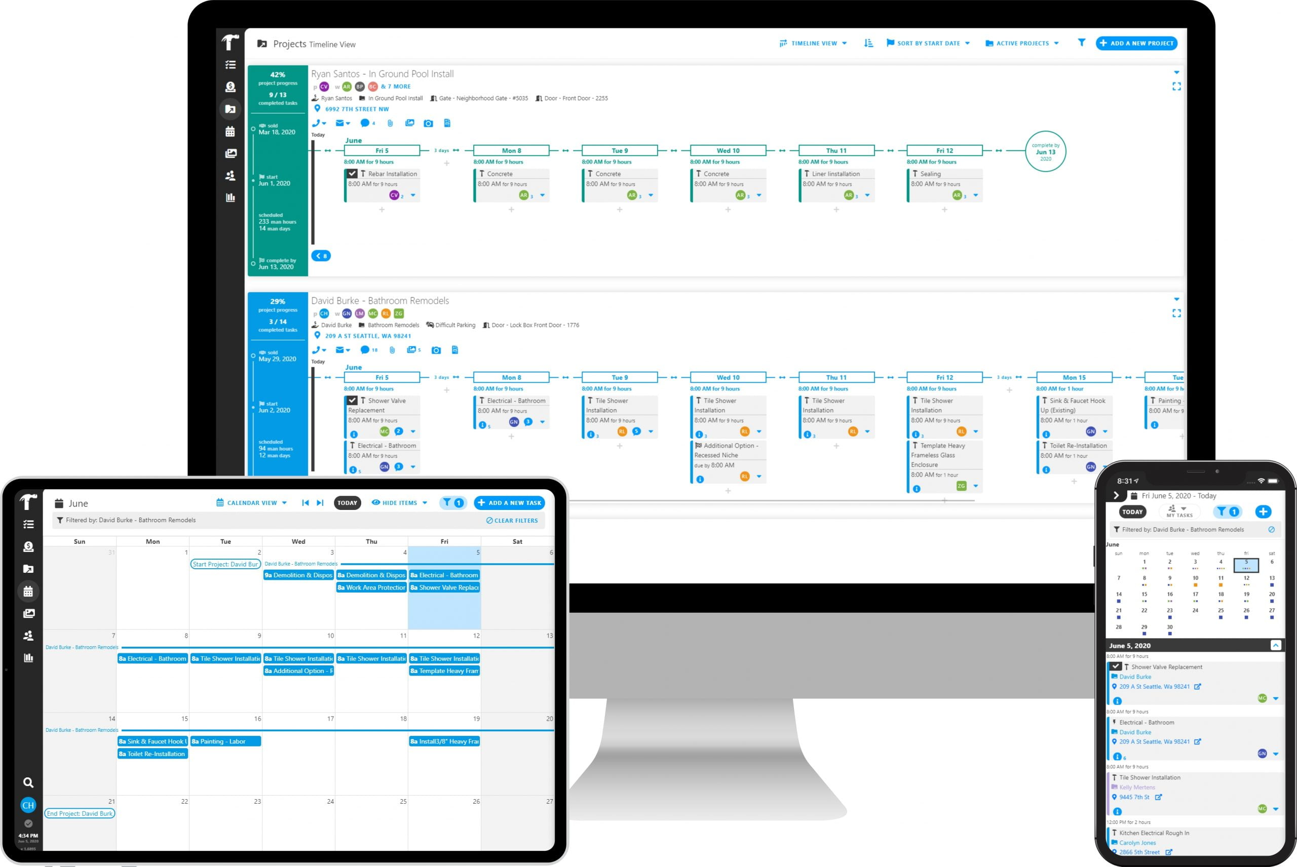 Scheduling for Construction with Projul