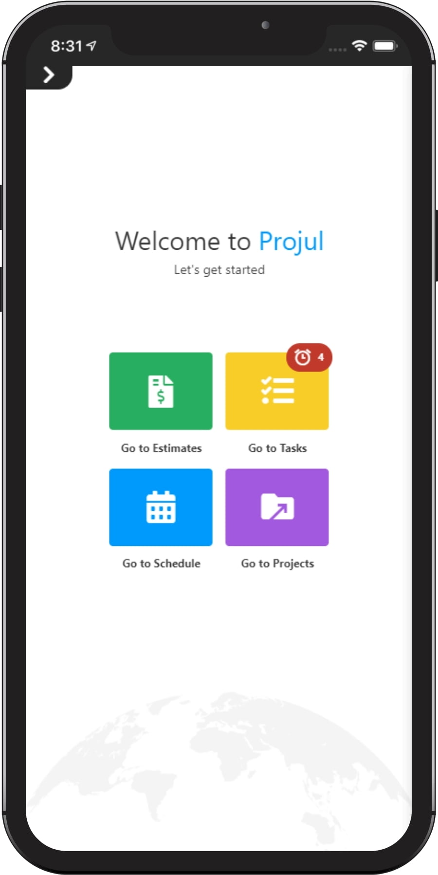 Mobile App with Projul