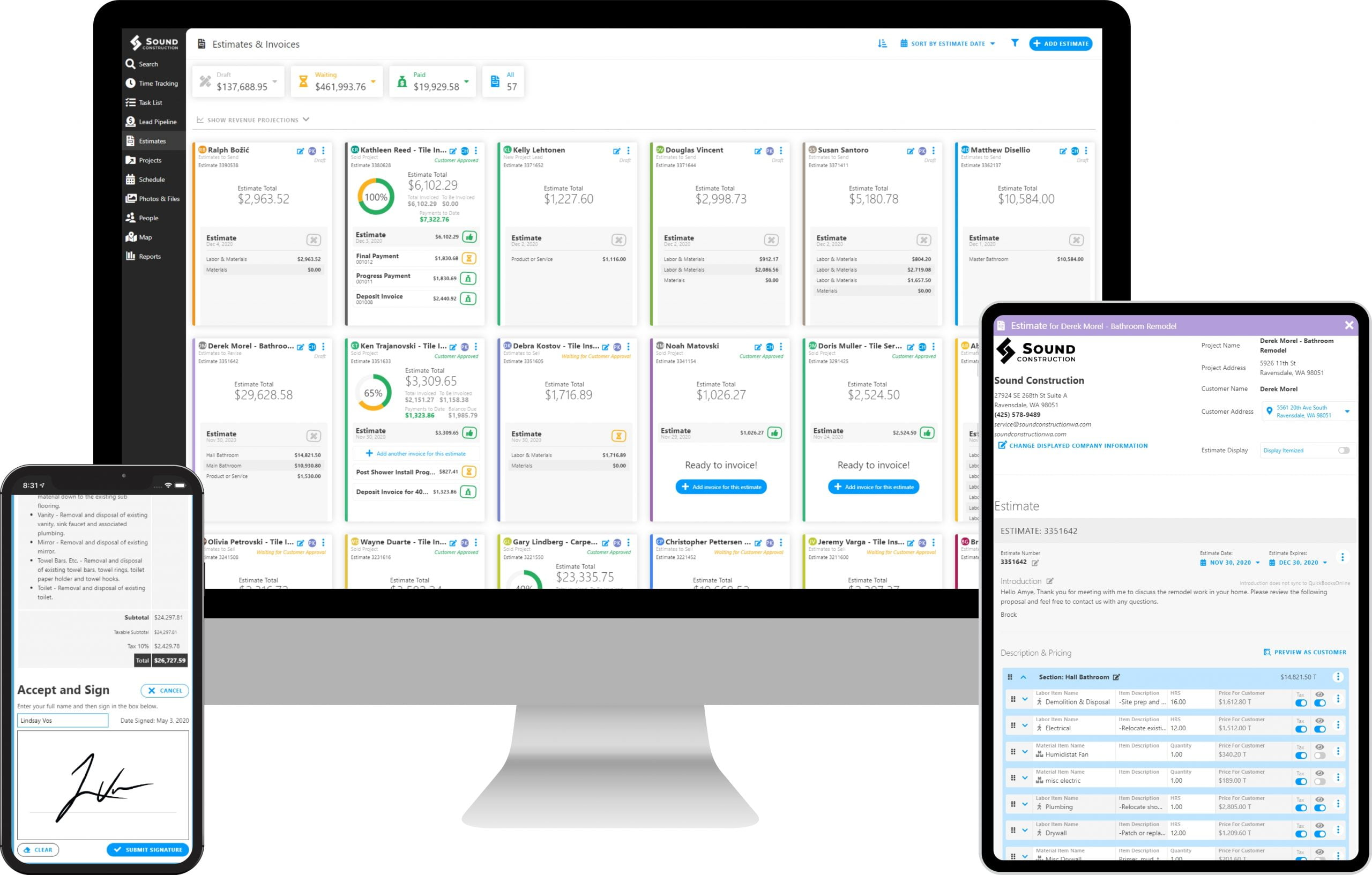 Invoicing and Estimating with Projul