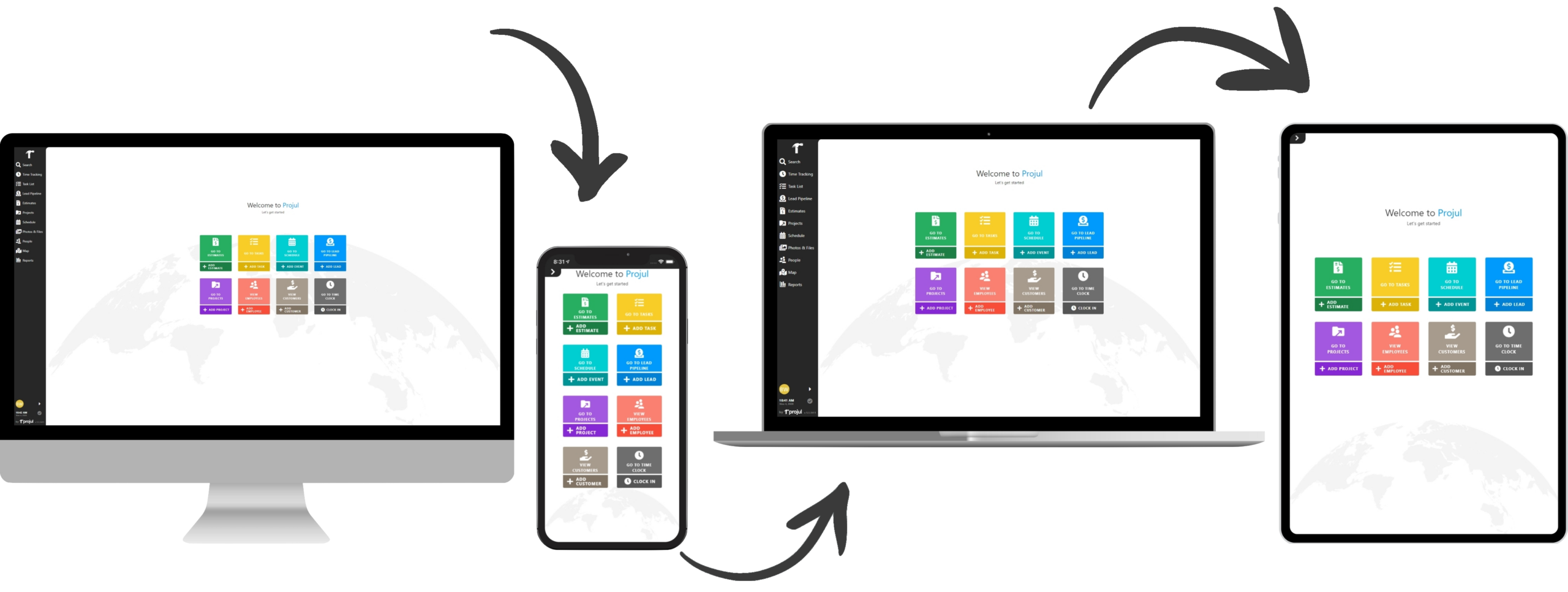 Projul on all of your desktop and mobile devices.